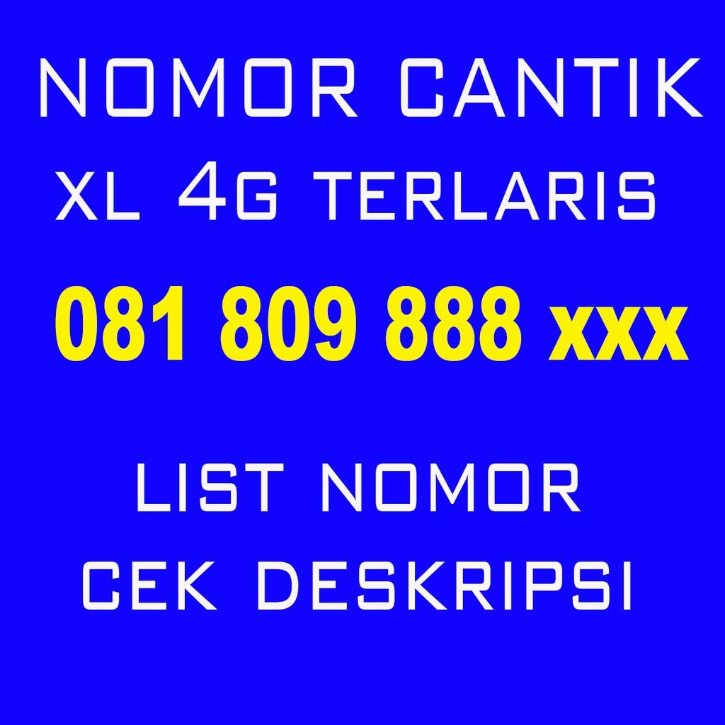 NOMOR CANTIK/XL BEBAS/seri tahun&triple/yb/bagus/super hoki/rapih   Shopee Indonesia