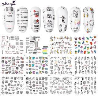 10 Lembar Stiker Decal Transfer Air Desain 3D untuk Dekorasi Kuku DIY thumbnail