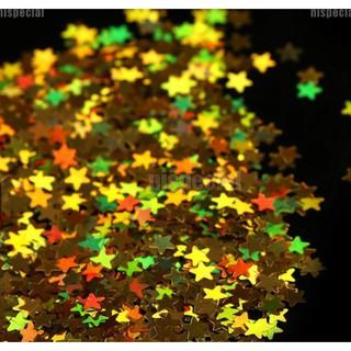 Sequin Glitter Bentuk Bintang Blink AB Rainbow Per klip isi 300-400pcs Untuk Nail Art thumbnail