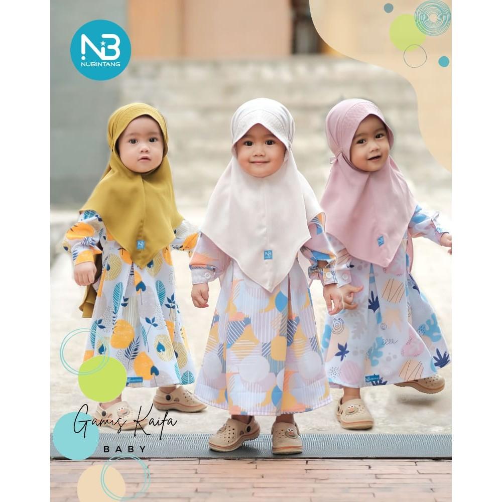 Gamis Baby Kaifa Set Jilbab by NuBintang