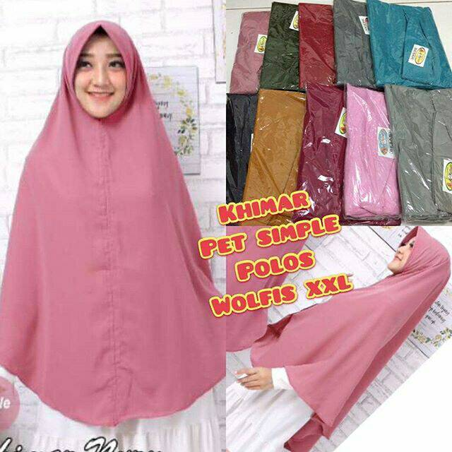 Jilbab Hijab Kerudung Bergo Khimar Instan Pet Antem Simpel Simple Polos Wolfis Murah Shopee Indonesia
