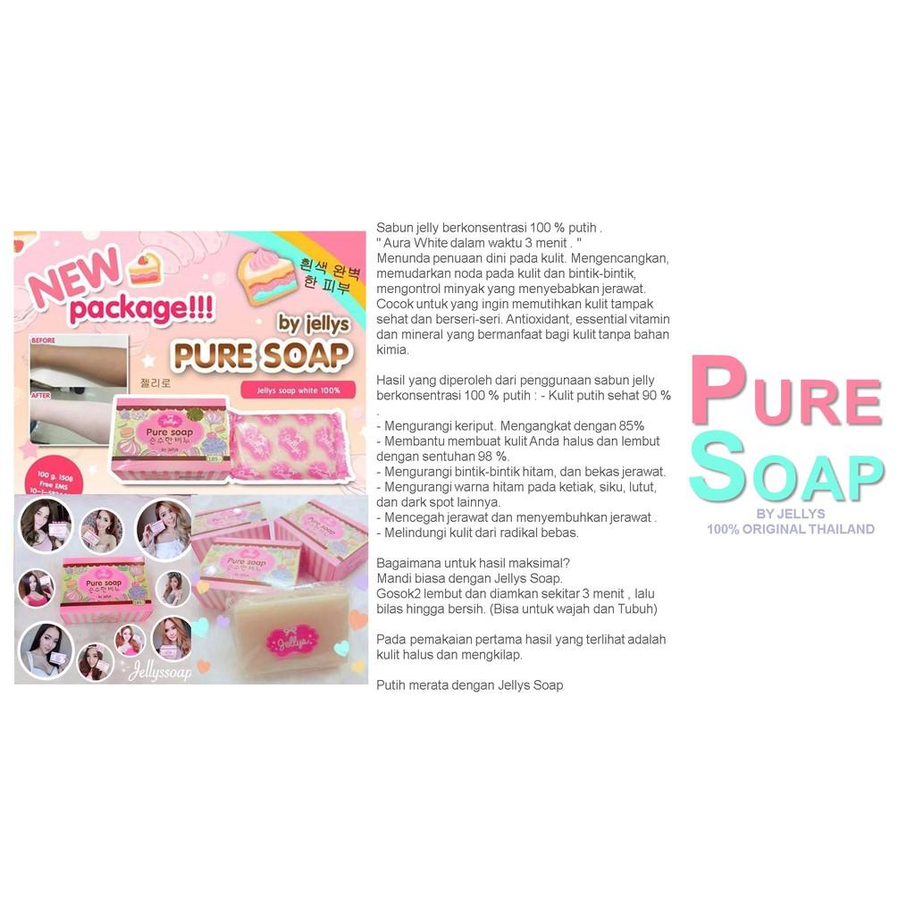 Pure Soap By Jellys 100 Original Thailand Berhologram Shopee Satuan Sabun Beras Bpom K Brothers Indonesia