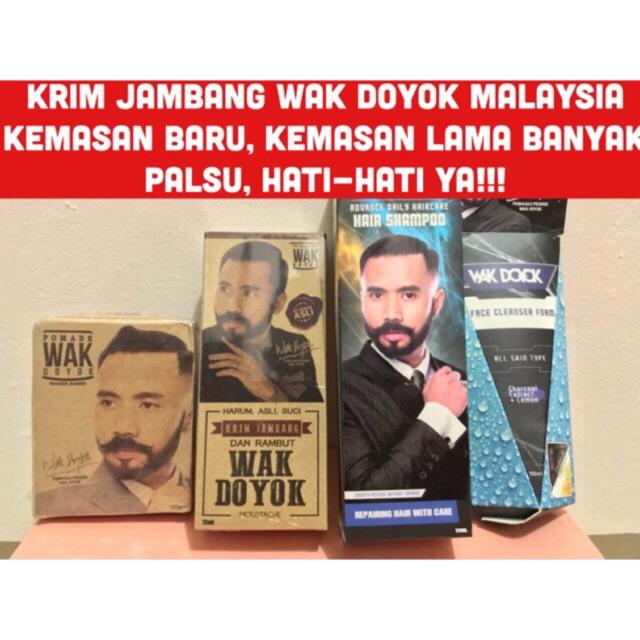 Krim Jambang Wak Doyok Penumbuh Brewok Cream WakDoyok Legasi Malaysia   Shopee Indonesia