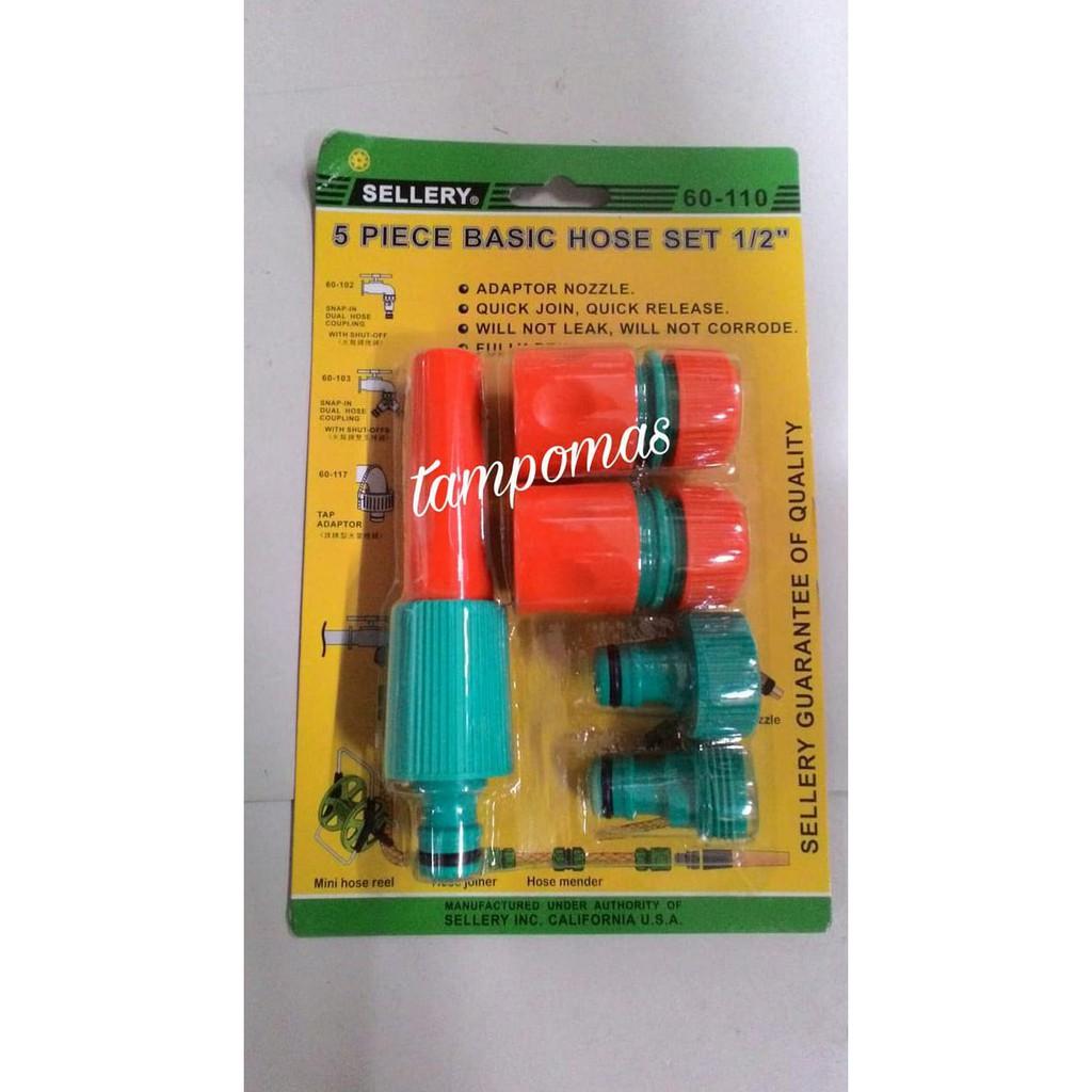 Semprotan Air Set 5pcs + Sambungan Selang Sellery Basic Hose Set | Shopee Indonesia
