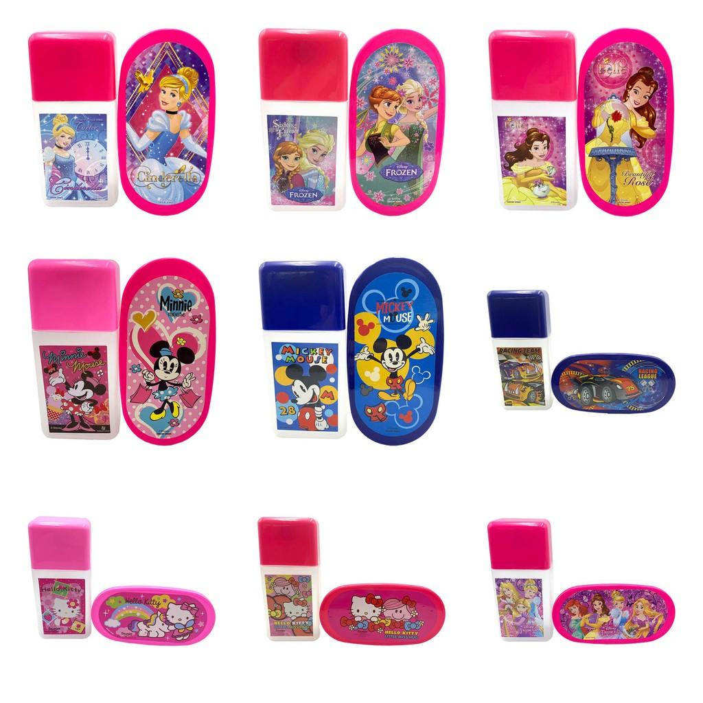 Kotak Bekal Makan Anak Gambar Kartun Disney Princess Hello Kitty SANSAN WAWA Lunch Box Set ST