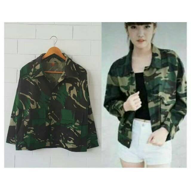 Jaket casual wanita   Jaket army   Jaket cewek murah Kikau Jacket ... 641e32af15