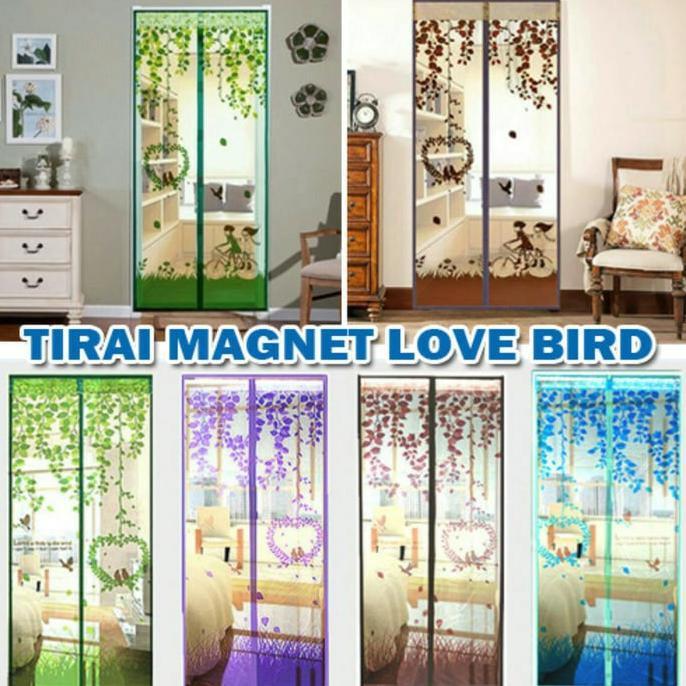 Magic Mesh Tirai Magnet Anti Nyamuk Motif Bunga - Tirai Pintu Magnet. Source · Dapatkan