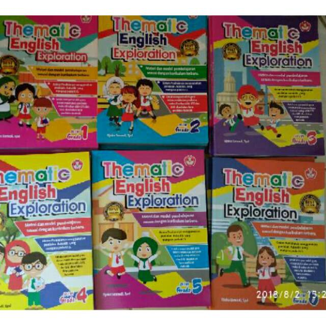 Buku Thematic English Exploration Sd Kelas 1 2 3 4 5 6 Buku Tematik Bahasa Inggris Sd Shopee Indonesia