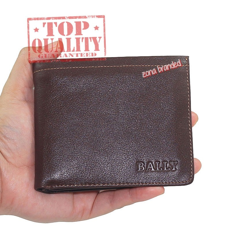 Dompet kulit pria import branded bally 1186-3 brown  75039589fd
