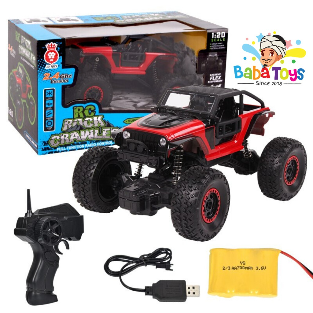 Mainan Mobil Remot Rock Crawler Jeep Offroad 2 4ghz Rc Remote Control Shopee Indonesia
