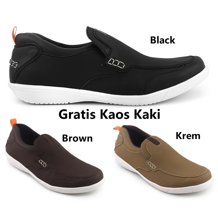 850b5968e22 Sepatu Slip On Casual - JUAN BLACK l Zapato Footwear