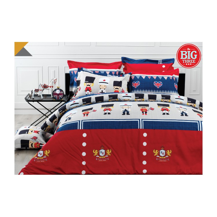 Sprei KENDRA 180x200 / 160x200 motif Toy Soldier - King Queen 180 160 - modern minimalis anak - SP | Shopee Indonesia