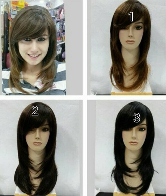 Wig Rambut Palsu Segi Layer Panjang Shopee Indonesia