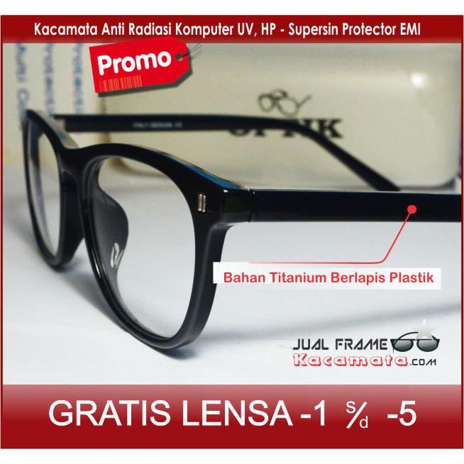 GRN15200 Frame Kacamata Minus Dior 816 Pria Wanita Hitam  a231cc5324