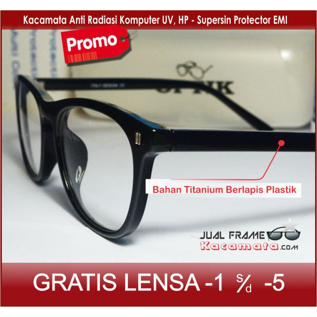 frame kacamata minus pria wanita guess 114 (frame+lensa) kaca mata anti  radiasi hitam  9b61c5cde7