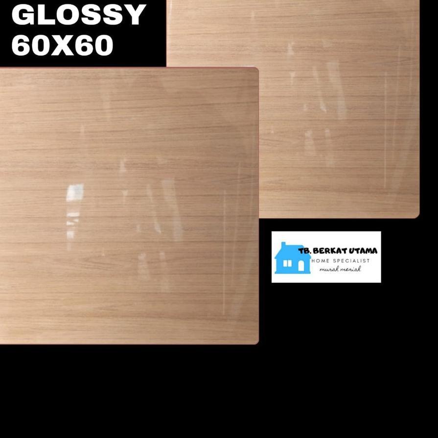 Premium - GRANIT GLOSSY 60X60 MOTIF KAYU WOOD HABITAT - GRANIT LANTAI , GRANIT DINDING, GRANIT KAMAR