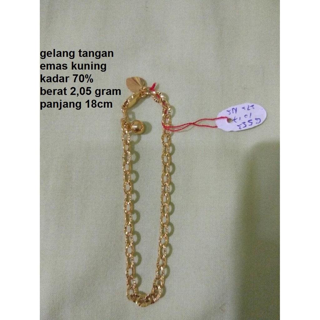 Promo Gelang Emas Italy Kadar 750 Tiga Warna Bangle Gold Three 05 Gram Tone Color Limited Shopee Indonesia