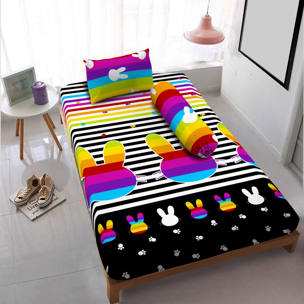 Kintakun Sprei Dluxe 120 X 200 Single Elena Shopee Indonesia 120x200 Azaki