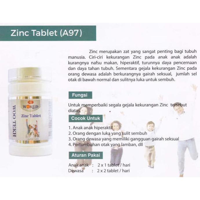 Zinc Tablet By Woo Tekh Shopee Indonesia