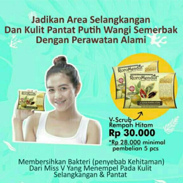VScrub Roro Mendut V Scrub Lulur Pemutih Pencerah Selangkangan Bokong Herbal | Shopee Indonesia
