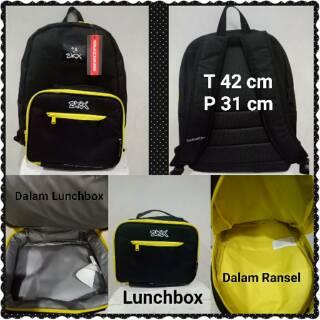 Tas Ransel Skechers Black Yellow Plus Lunchbox Original 9cb2c29a4d