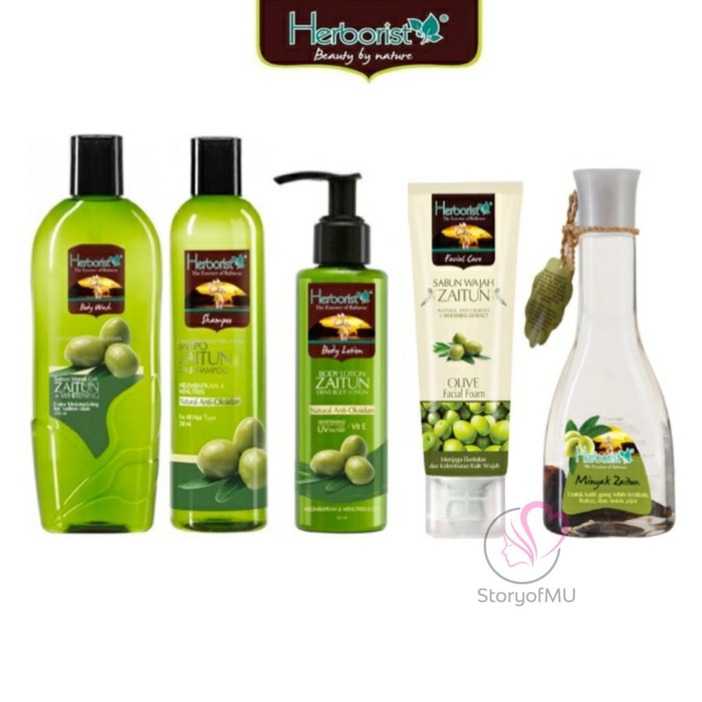 [BPOM] HERBORIST Zaitun Series - Body Wash / Shampoo / Lotion / Sabun Wajah / Minyak 75ml / 150ml-6