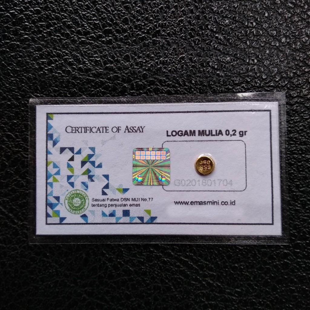 Logam Mulia Emas Mini Murni 24 Karat Ukuran 02 Gr Shopee Indonesia Voucher Belanja Antam 25 Gram