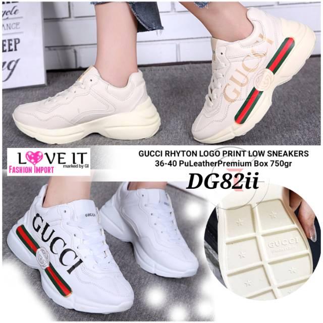 LV SNEAKERS Sepatu Fashion Import Korean Green ZigZag Sport Olahraga Galeri  Intan Batam GUCCI ACE  ec6a802259