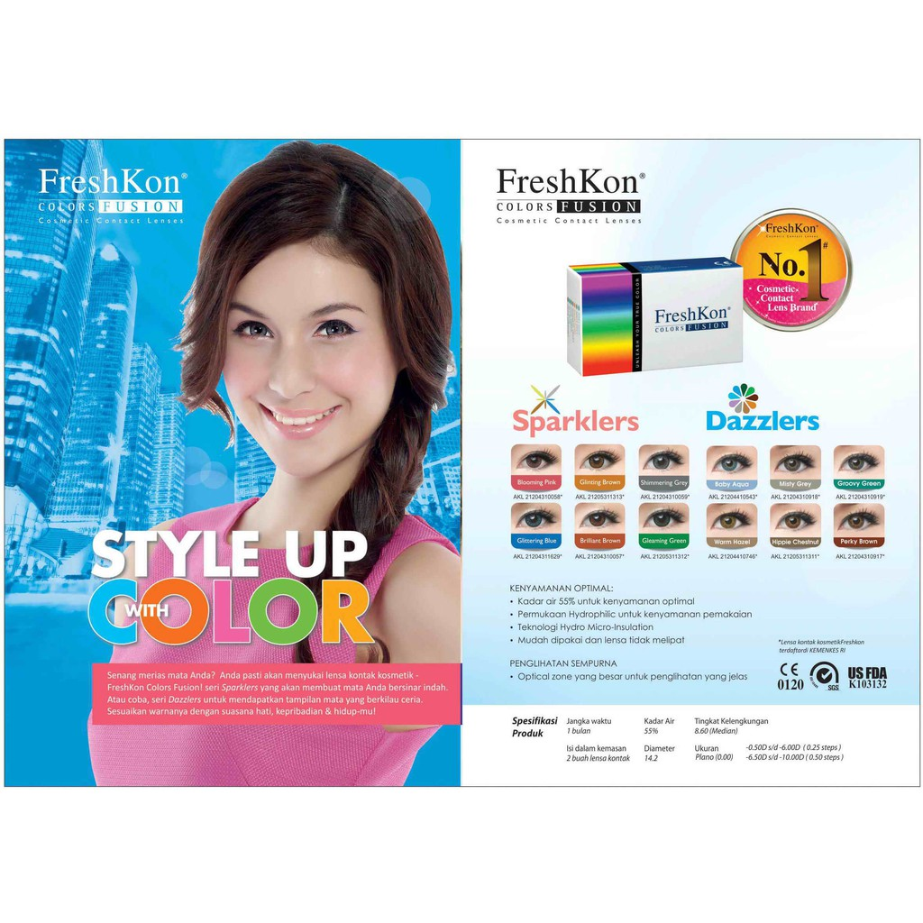 Freshkon Color Fusion Monthly Softlens Warna X2 Ice Series Bulanan Colors Shopee Indonesia