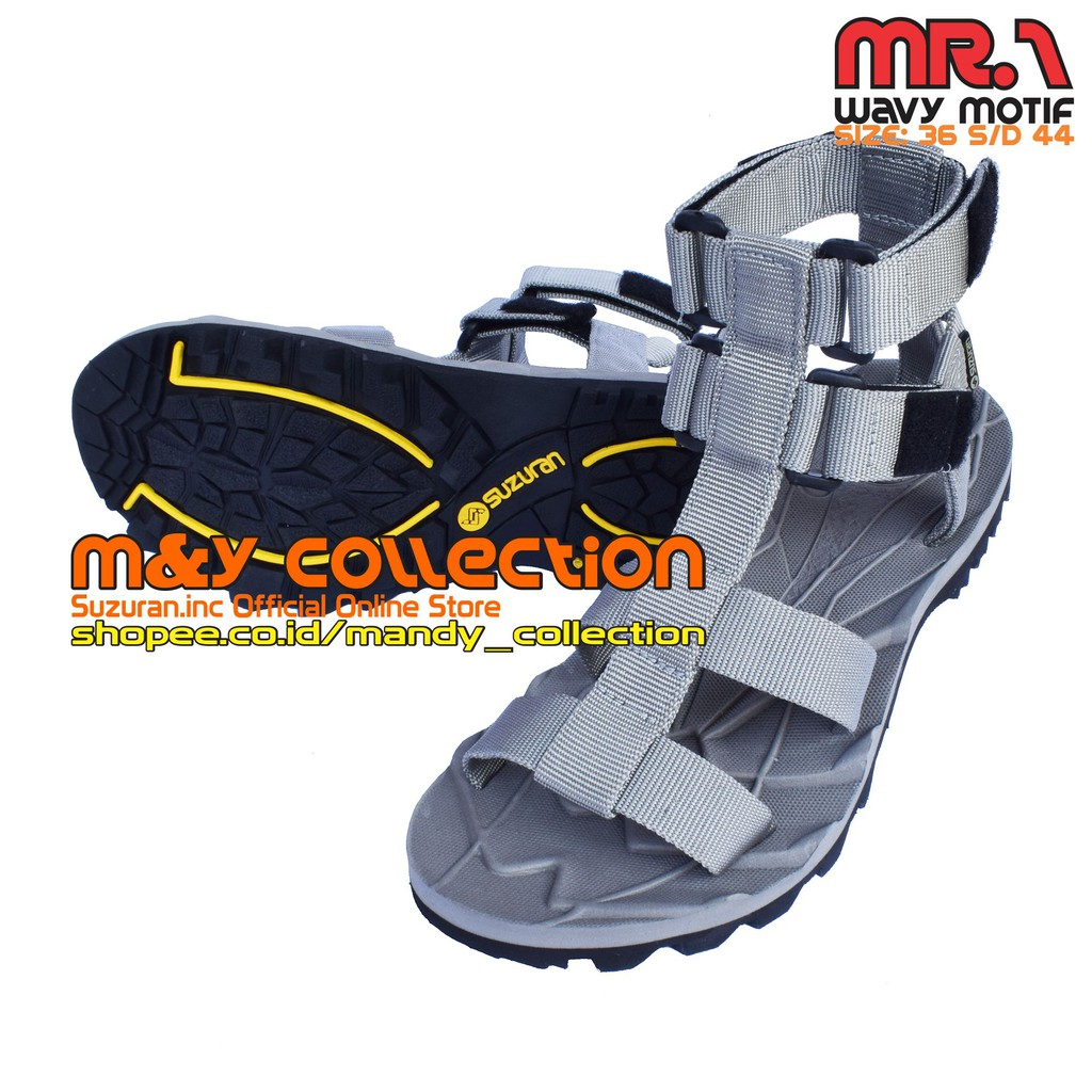 Suzuran Sandal High Land Army Green Shopee Indonesia Gunung Cross Thumb Mr2 Brown