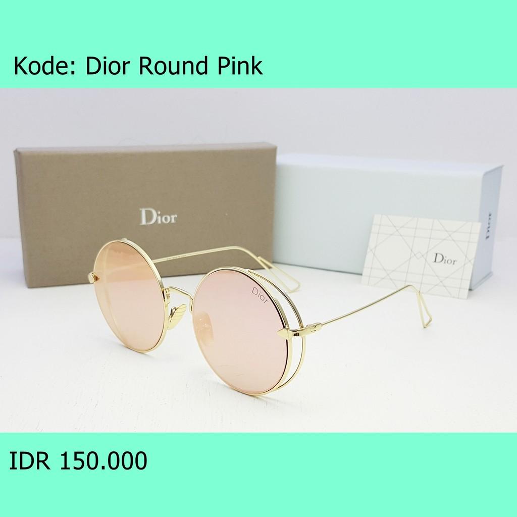 Kacamata Sunglasses Wanita Mirror Dior Round Lennon Fullset Premium ... a3a90b4b35