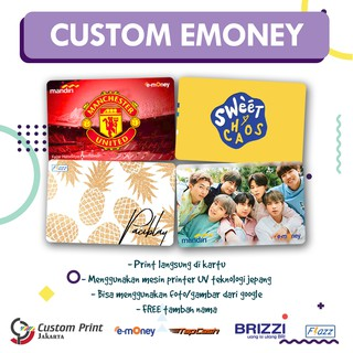 Emoney Flazz Brizzi Tapcash Custom Print 1sisi