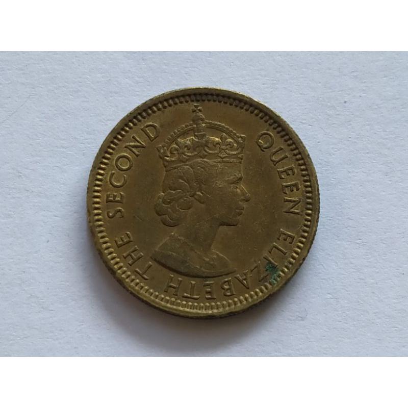 Koin asing Hongkong 50 cents 1960