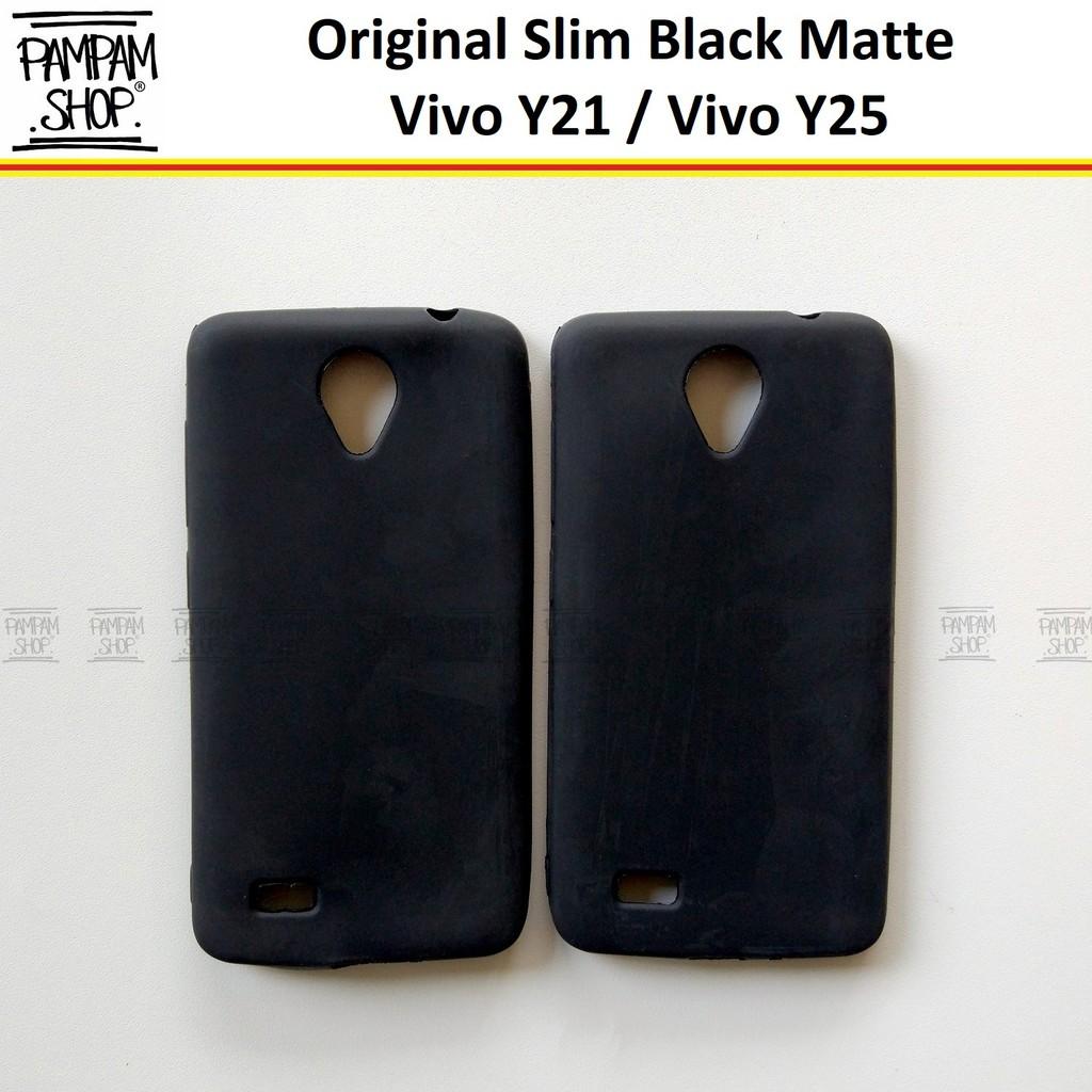 Soft Case Slim Black Matte Vivo Y21 Y25 Ultrathin Ultra Thin Silikon Casing  Blackmatte Softcase