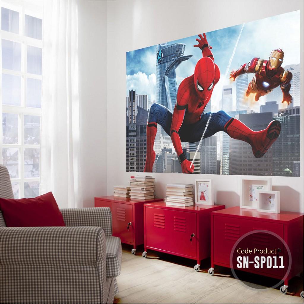 Stiker Dinding Besar Superhero Spiderman Cocok Untuk Wall Sticker Kamar Ruang Tamu Dekorasi Cafe