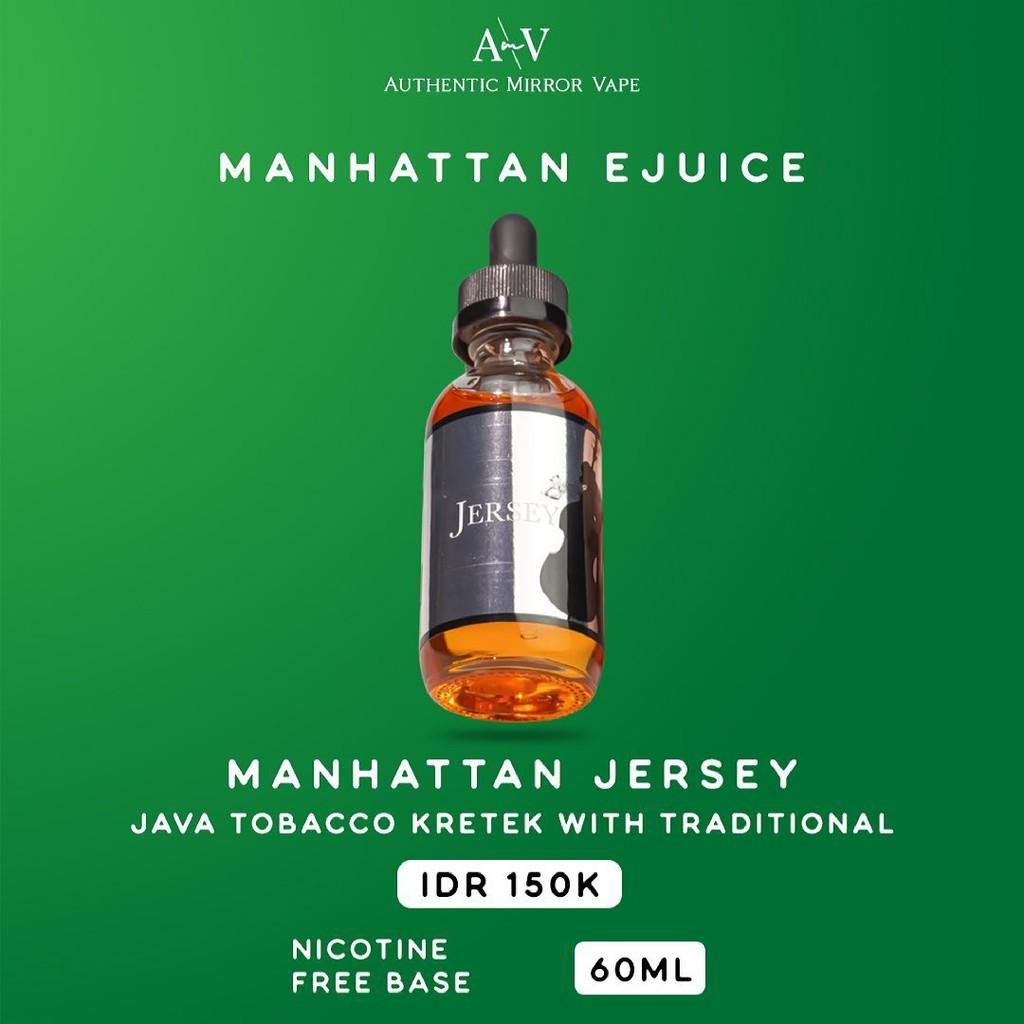 Manhattan Jersey 6MG/9MG/12MG/18MG/24MG 60ML By Manhattanliquid Autehntic - Liquid Freebase