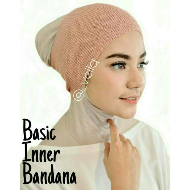 Inner Bandana Rajut PREMIUM Ciput Hijab Antipusing