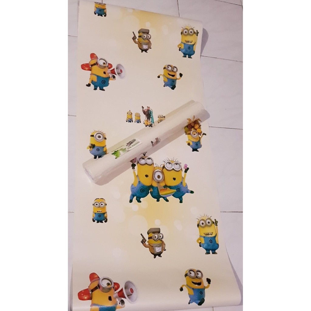 Wallpaper Sticker Dinding 45cmx10m Motif Minion