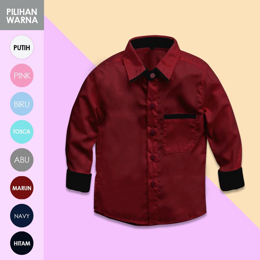 KEMEJA PRIA COUPLE AYAH ANAK POLOS PUTIH MAROON NAVY HITAM LENGAN PENDEK SLIM CASUAL FORMAL MURAH I. | Shopee Indonesia