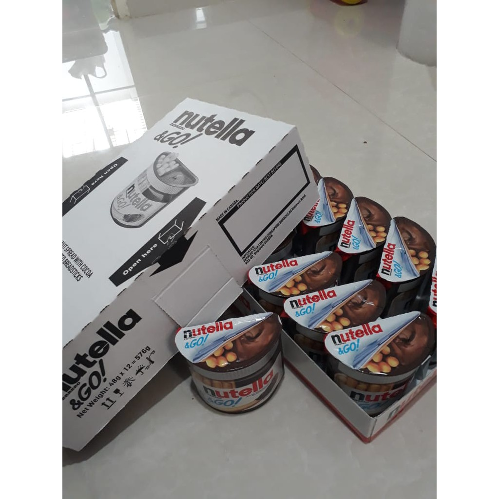Nutella And Go 1 Box Isi 12 Pcs Shopee Indonesia Of