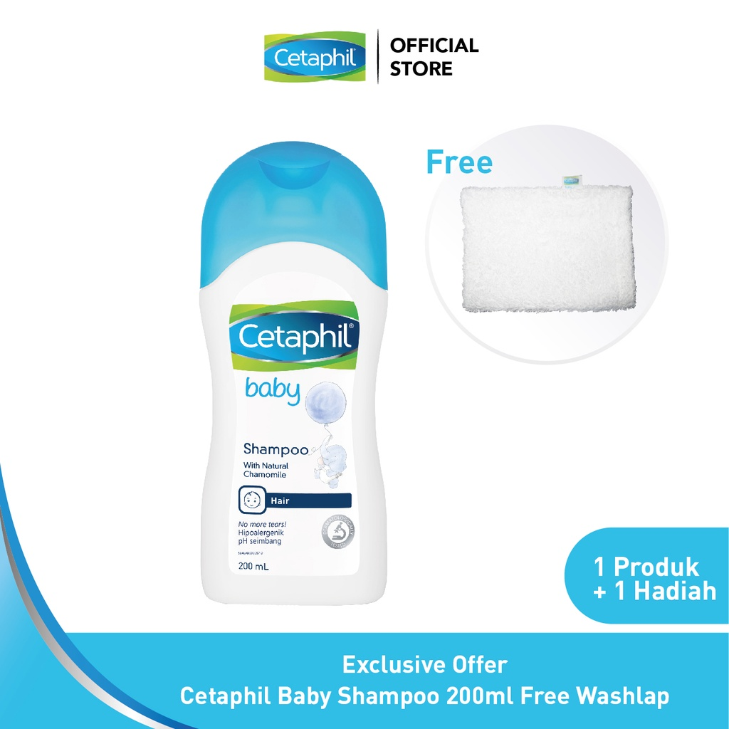 Exclusive Offer Cetaphil Baby Shampoo Free Washlap