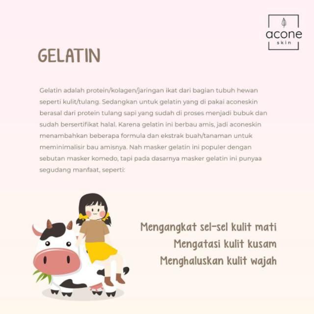 Aconeskin Masker Gelatin Acone Skin Gelatin Mask Halal Shopee Indonesia