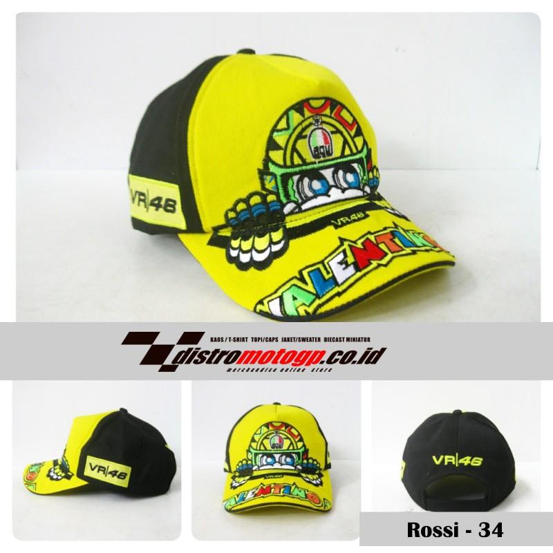 PREMIUM!! Topi Distro Motogp Rossi TP46-46DK Berkualitas a3b83133ba