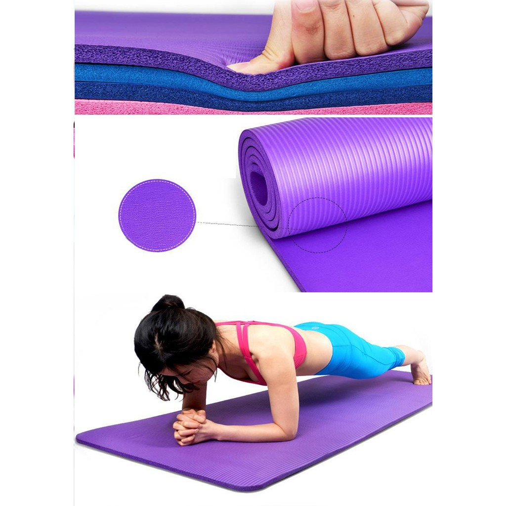Yoga Mat 10mm Nbr Yogamat Matras Alas Shopee Indonesia 8mm Tpe Rubber Eco Anti Slip Bag Limited Edition