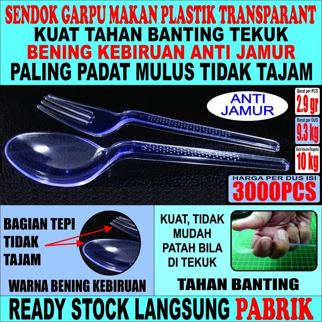 Sendok Makan Hitam 3000 Pcs Per Dus Plastik Panjang Murah Shopee Super Doll Garpu 6 Pack Indonesia