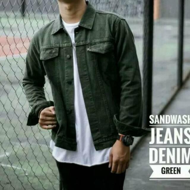 [READY STOK] Jaket jeans LEVIS Pria cowok HIJAU GREEN ARMY BIOBLITZ BIRU BLITZ PUDAR TELOR ASIN | Shopee Indonesia