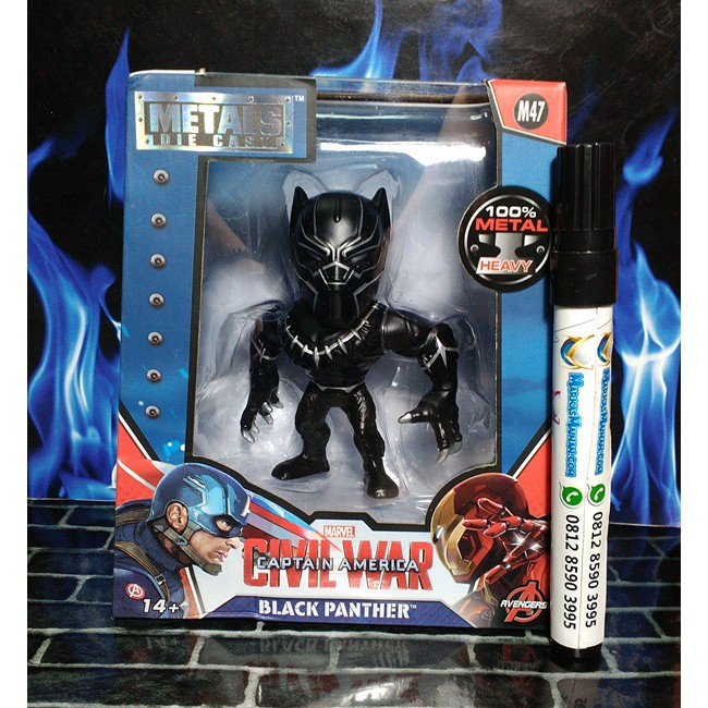 "Avengers Black Panther 4"" METALFIGS Marvel M47"