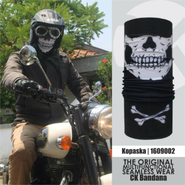 Buff Masker Multifungsi Motif Imperial Moustache Skull. Source · DISKON - CK . Source ·