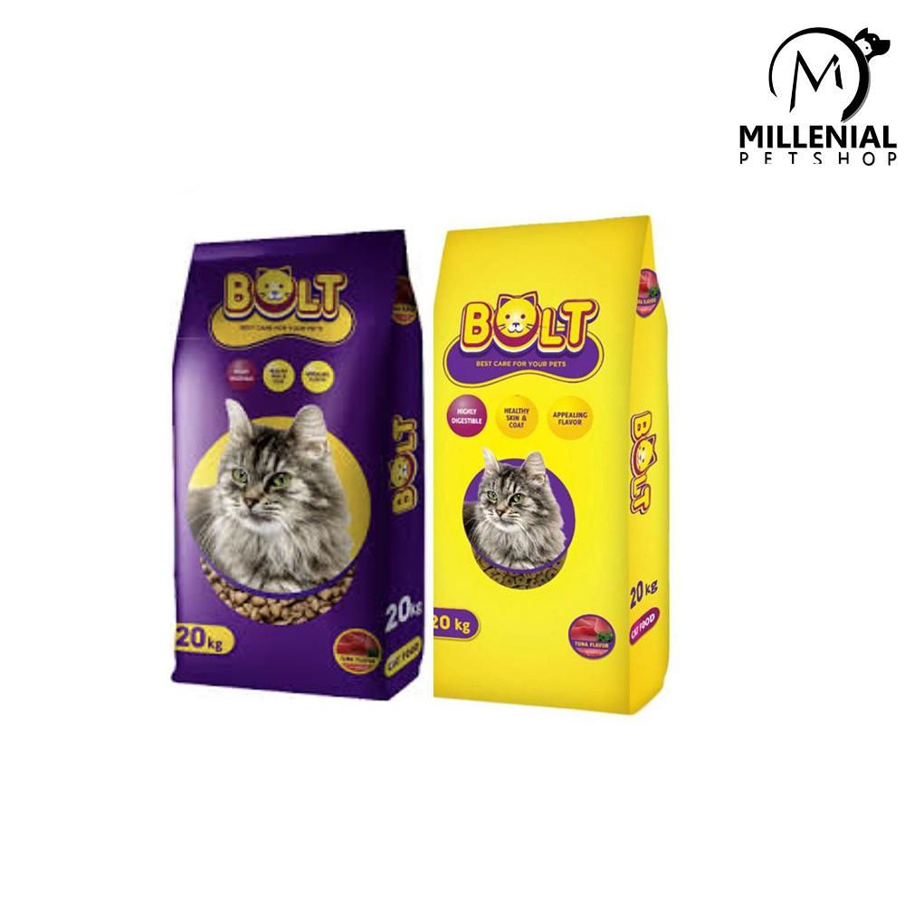 Makanan Kucing Bolt 20kg Cat Food 20 Kg Untuk Kucing Dewasa Bentuk