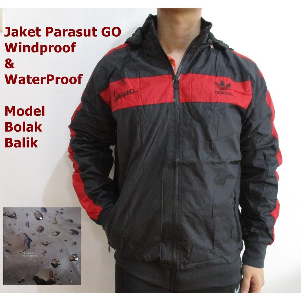 5445843c4 Jaket Adidas TrainingJogging Motor Parasut Bolak Balik Waterproof Murah |  Shopee Indonesia